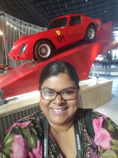 Travel enthusiast and founder of the SpiceGoddess - lifestyle blog, taking a selfie in luxurious Abu Dhabi. Photo/ Verushka Ramasani